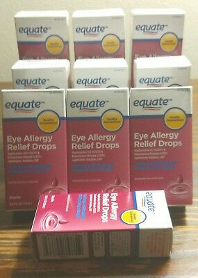 10 Bottles Allergy eye Itch drops .5ml drop Generic Opcon A Precio más bajo (77)
