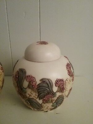 SET OF 2 Jardinia Harmony Kingdom by Martin Perry Studios ( Home to Roost)