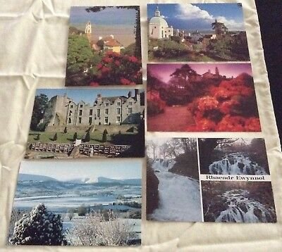 LOT OF 6  WELSH POSTCARDS, WALES - Portmeirion, Hay -On-Wye, Swallow Falls