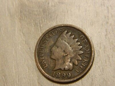 Rare Very Old Antique Collectible US 1899 Indian Head Penny USA Coin Collection