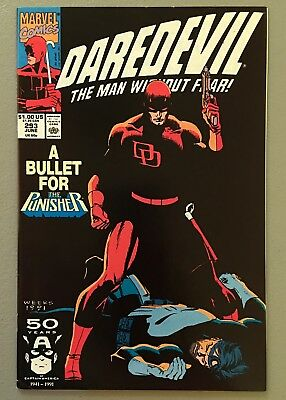 Daredevil 293 FN/VF 1991 A Bullet For The Punisher $3.95 unlimited Ship