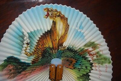Antique Japanese Hand Fan With Tiger..Beautiful
