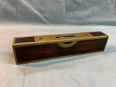 """Stratton Brothers Level 6 1/2"""" Rosewood Level 1887 Patent Brass"""