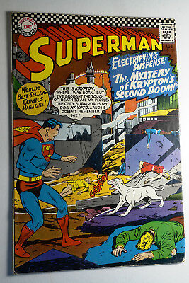 Superman #189 No. 189 Aug 1966 Vg Kryptons Second Doom Silver Age Dc Comics