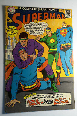 Superman No. 200 #200 Oct 1967 Vg Super Brother Against Silver Age Dc Comic Book