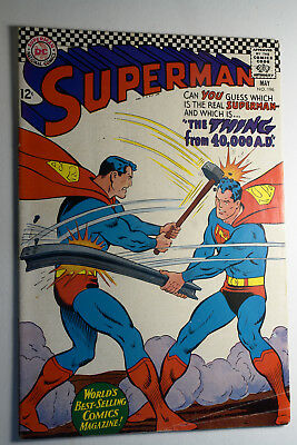 Superman #196 No. 196 May 1967 Vg The Thing From 40,000 Ad Silver Age Dc Comics