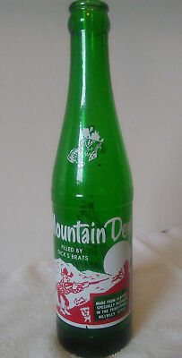 Rare Vintage Mt. Mountain Dew Acl Named (Dick's Brats) Hillbilly Soda Bottle
