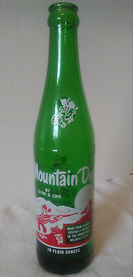 Rare Vintage Mt. Mountain Dew Acl Named (By Clyde & Cris) Hillbilly Soda Bottle