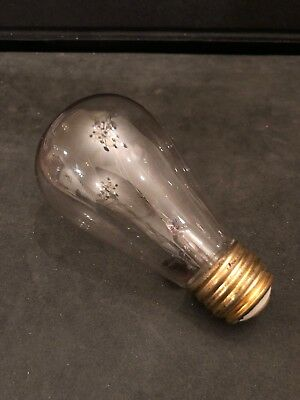 Vintage Edison Light Bulb General Electric Late 1800s-early 1900s Works