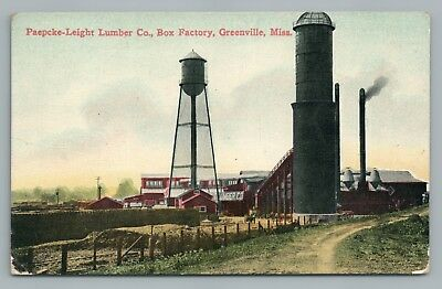 Paepcke-Leight Lumber Co GREENVILLE Mississippi—Factory Rare Antique 1912