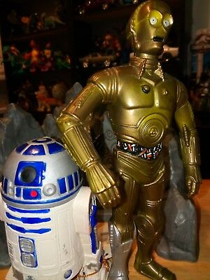 Star Wars R2D2 C3PO Action Figure from Out of Character & Suncoast 1993 Lot