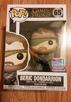 Funko Pop Beric Dondarrion Game Of Thrones Got Nycc Herbst Con 2018