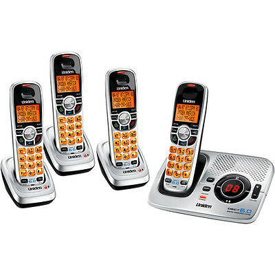 Uniden 6.0 Digital Cordless Phone Dect 2035+3 Ans/machine Includes 4 Handset's