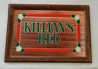 1995 Coors Brewing  Killian's Red Beer Usa Wood Framed Bar/man Cave Mirror Sign