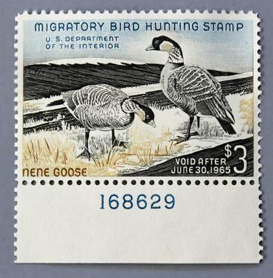 US #RW 31 $3 Duck with Plate Number / OG MNH PO Fresh