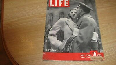 1943 Life Magazine April 19  Soldier Farewell   High Grade Lowest Price On Ebay