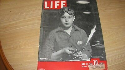 1943 Life Magazine  May 17  Boypower   High Grade Lowest Price On Ebay