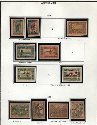 Early Azerbaijan Collection of 24 Mint Hinged