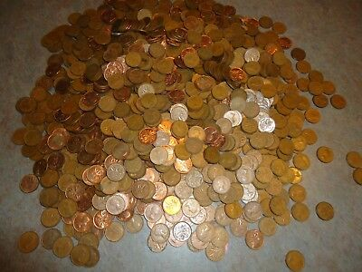 Canadian Elizabeth small one cent coin lot over  1,600 pc  50-60's Canada + unc