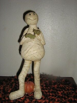 Spooky Halloween Hand-Crafted Mummy Pumpkin Witch Resin Collectible Nwt