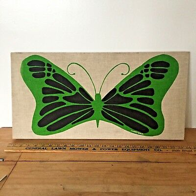 Marushka Stretched Canvas Print Vintage Butterfly Wall Hanging Mid Century 1973