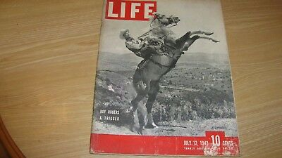 1943 Life Magazine July 12 Roy Rogers & Trigger  High Grade Lowest Price On Ebay