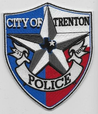 Trenton Police State Texas TX Colorful NEW