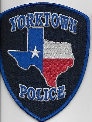 Yorktown Police State Texas TX patch NEW NEAT