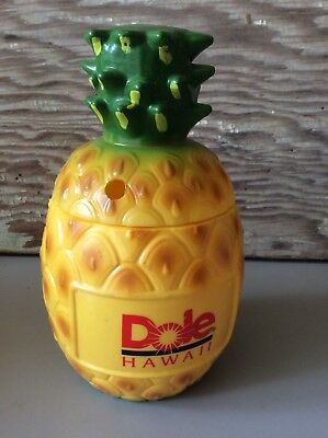 Dole Hawaii Pineapple Plastic Money Coin Bank Fruit Novelty Souvenir Drink Cup