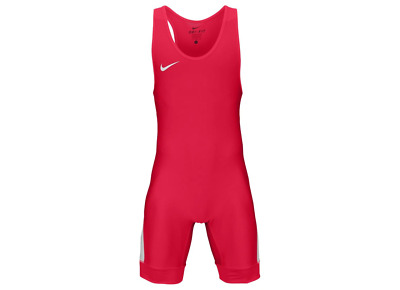 Nike Grappler Elite Wrestling Singlet - Scarlet/White