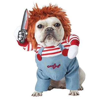 Chucky Deadly Doll Costume for Dog Pet Puppy Halloween