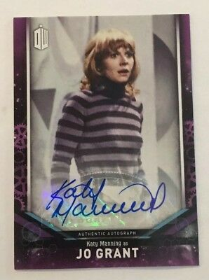 2018 Topps Doctor Who Signature Series Katy Manning As Jo Grant Autograph Card