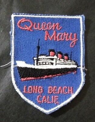 Vintage Queen Mary Long Beach California Patch