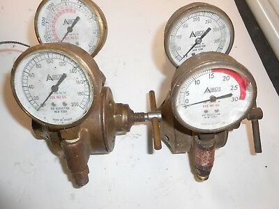 Airco Oxygen & Acetylene Welding Regulator Valves & Gauges Gages