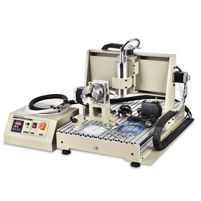 USB 4 Axis 6040 CNC Router Engraver Engraving Wood Metal Drilling Machine 1.5KW