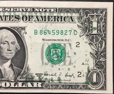 1988 $1 Offset Printing-Green Back To Front Error - Gem New - Beautiful