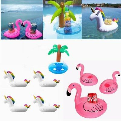 Flamingo/Unicorn/Coconut Tree Inflatable Swimming Pool Party Drinks Cup Holders