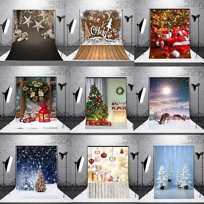 5x7FT Vinyl Studio Photography Backdrops Christmas Background Props Happy Memory