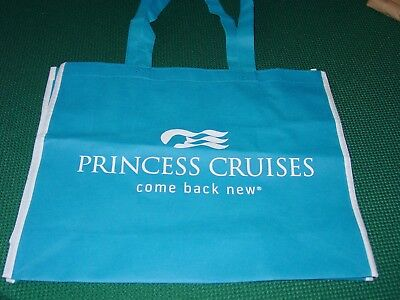 "Princess Cruise Line Lightweight Blue Tote Bag ""Come Back New"""