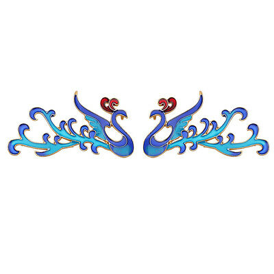2pcs Phoenix Charms with Loop Back for Chinese Wedding Headdress Step Shakes