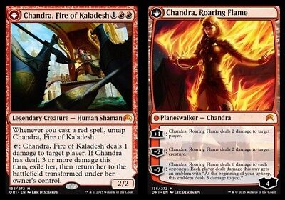 1x Chandra, Fire of Kaladesh // Chandra, Roaring Flame - Foil - Magic Origins -