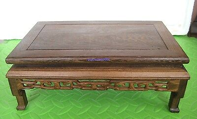 "10.60""x6.75""x3.9""  ORIENT CARVED LONG OBLONG DISPLAY ROSEWOOD-FOR SUISEKI&VASE"