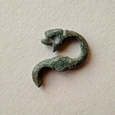 Ancient Celtic bronze artifact pendant dragon