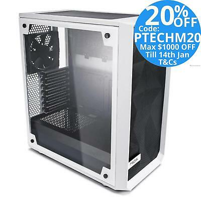 Fractal Design Meshify C WHITE Mid-Tower ATX PC Case Tempered Glass Side Window