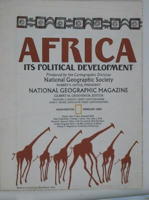 National Geographic Map 1980: Africa: Its Political Development