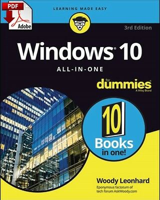 Windows 10 all in one For Dummies - read on PC, PHONE,TABLET - Fast PDF Download
