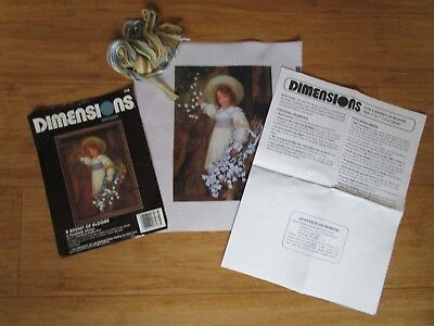 Dimensions Crewel Embroidery Kit Of A Basket Of Blooms From 1990