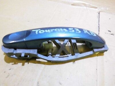Vw Touran Mk1 Rear Right Outer Door Handle In Electric Green Driver Side Osr 04>