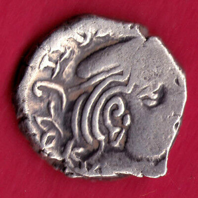 Ancient India - Kshatrap Dynasty - Kings Portrait - Rare Silver Coin #g55