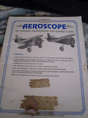 Aeroscope ? An airplane kaleidosopefor stained glass  // Clarity glass   USA